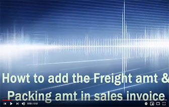 How to Add Freight amt & packing Charge in billing