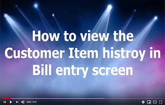 How to view Customer wise bill history